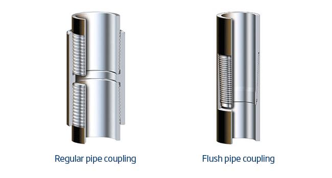 Flush mount and regular couplings