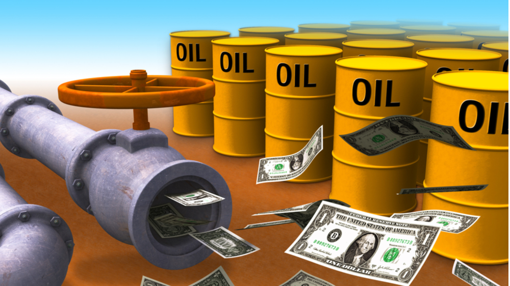 Money from oil and gas pipe line